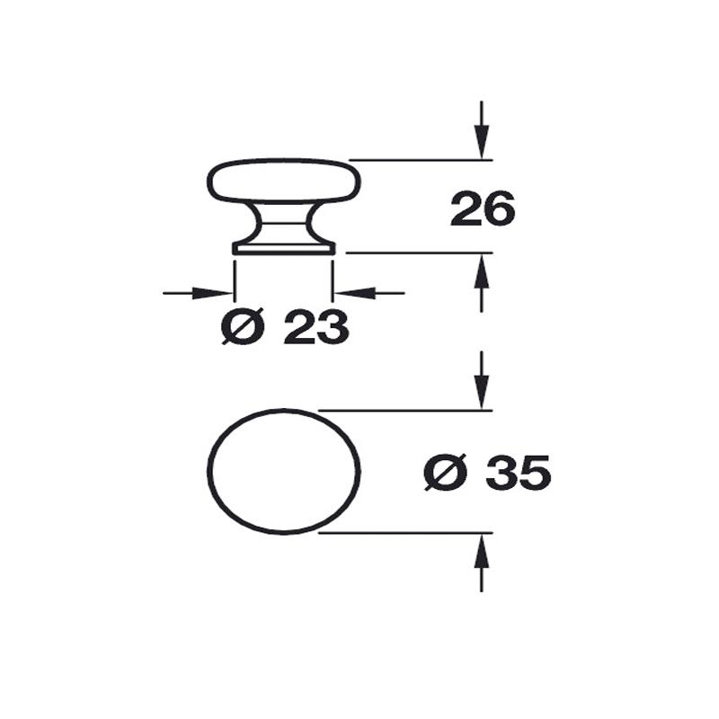 diagram detailing the door handle dimensions