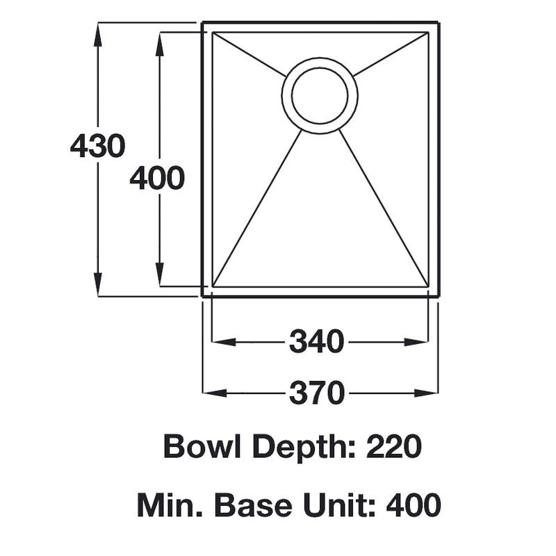 specifiaction sheet ashton stainless steel sink 370 undermount