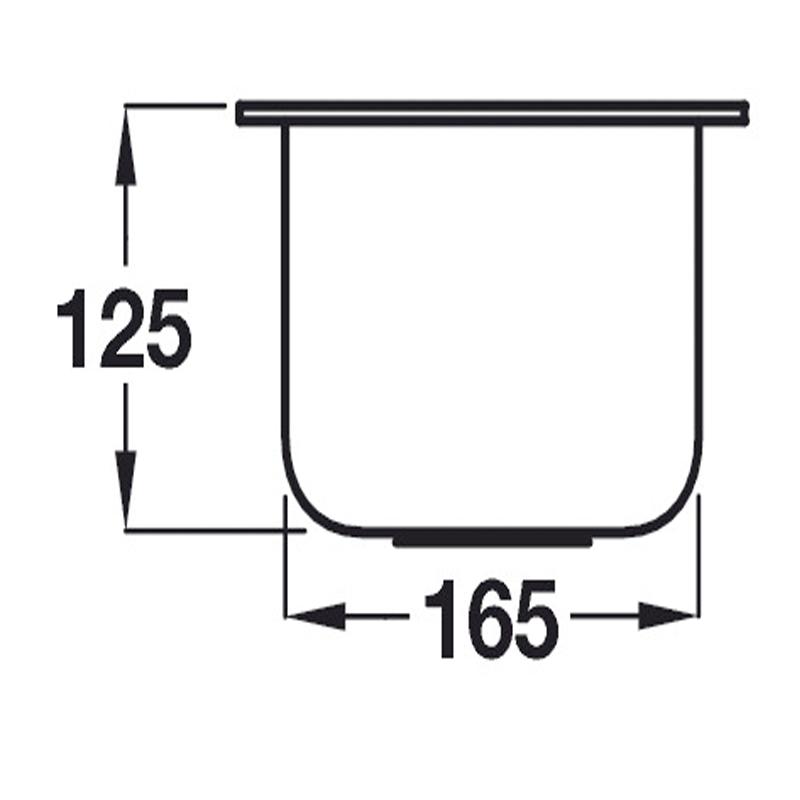 specification sheet for calder undermount half bowl stainless steel sink