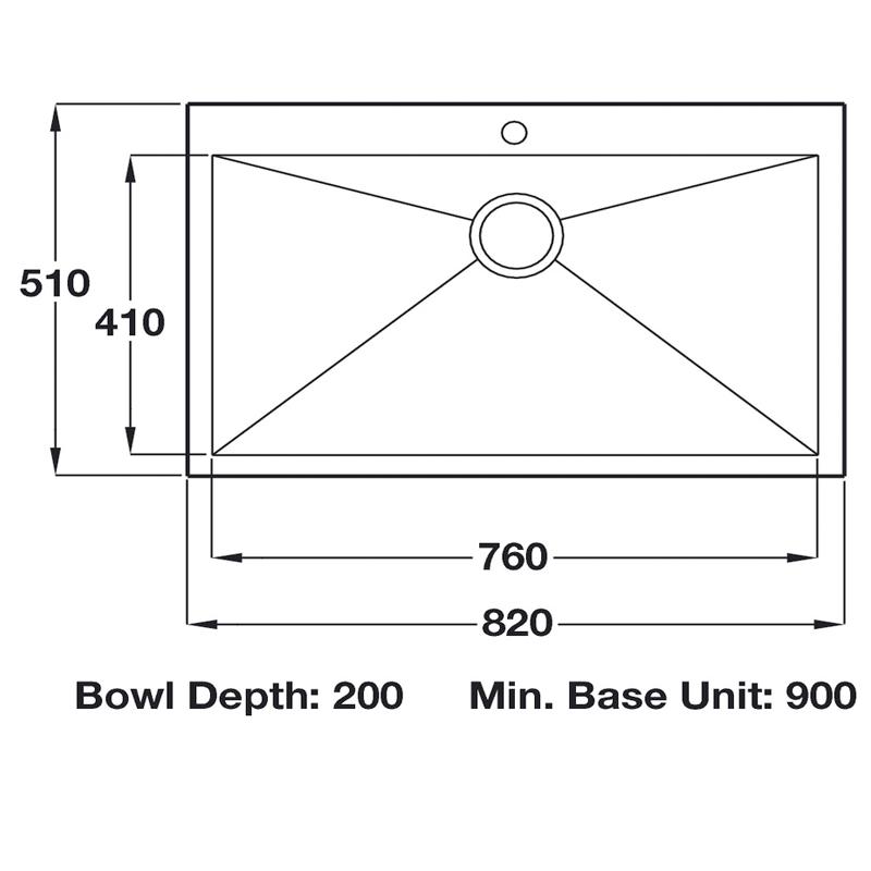 damson 1.0 bowl ss sink specification sheet