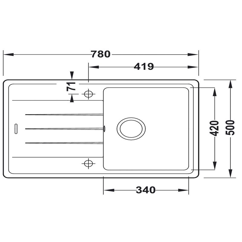 specification sheet for shcock element single bowl quartz composite kitchen sink